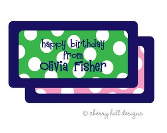 """Sailor (pink or green) Gift Tag - set of 24 4"""" x 2"""""""