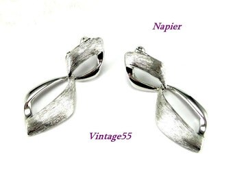 Napier Earrings Silver tone Comfort screw back
