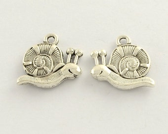 Snail - Set of 15 Charms - Double Sided - #HK1166