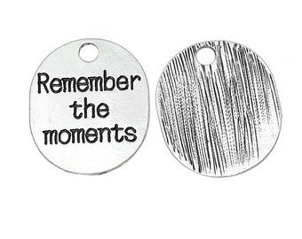 Remember the moments - set of 2 charms - #DJ144