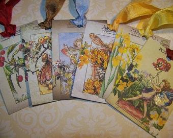 Fairy Tags Vintage Style Set of 6