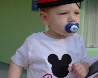 Custom made Minnie and Mickey mouse T- Shirts embroidered with free personalization