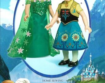 FROZEN FEVER PATTERN / Make Frozen Anna - Elsa Dresses For American Girl  - 18 Inch Dolls