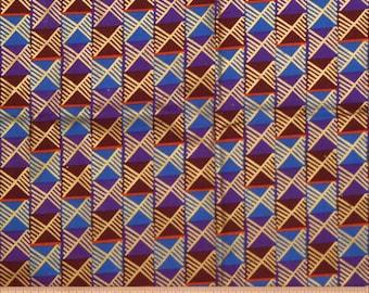METALLIC STRIPES FABRIC - By the Yard - Africa - Tribal