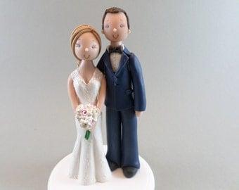 Bride & Groom Customized Wedding Cake Topper
