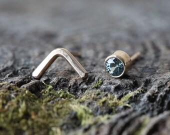 Peak Stud Earrings- Sapphire