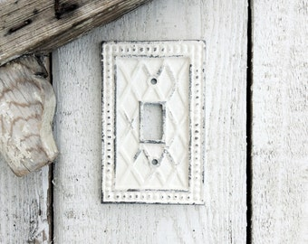 Single Light Switch Cover, Switch Plate, Creamy Off White, Light Fixture,New Home Remodel,Victorian, STYLE 120