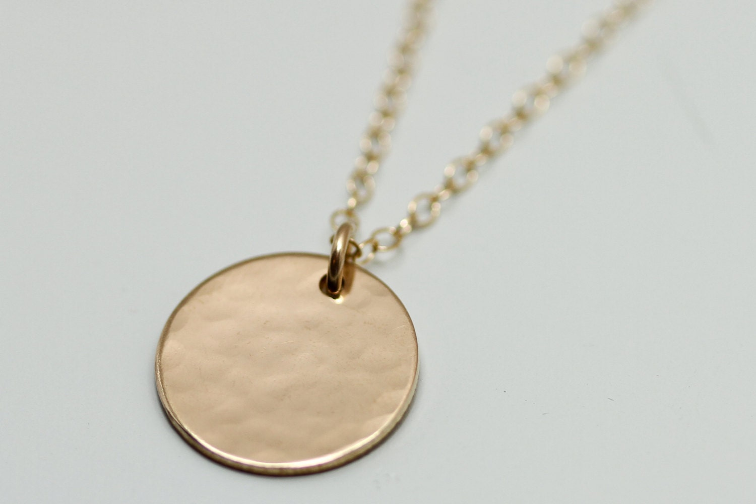 gold disc necklace dainty gold necklace delicate gold. Black Bedroom Furniture Sets. Home Design Ideas