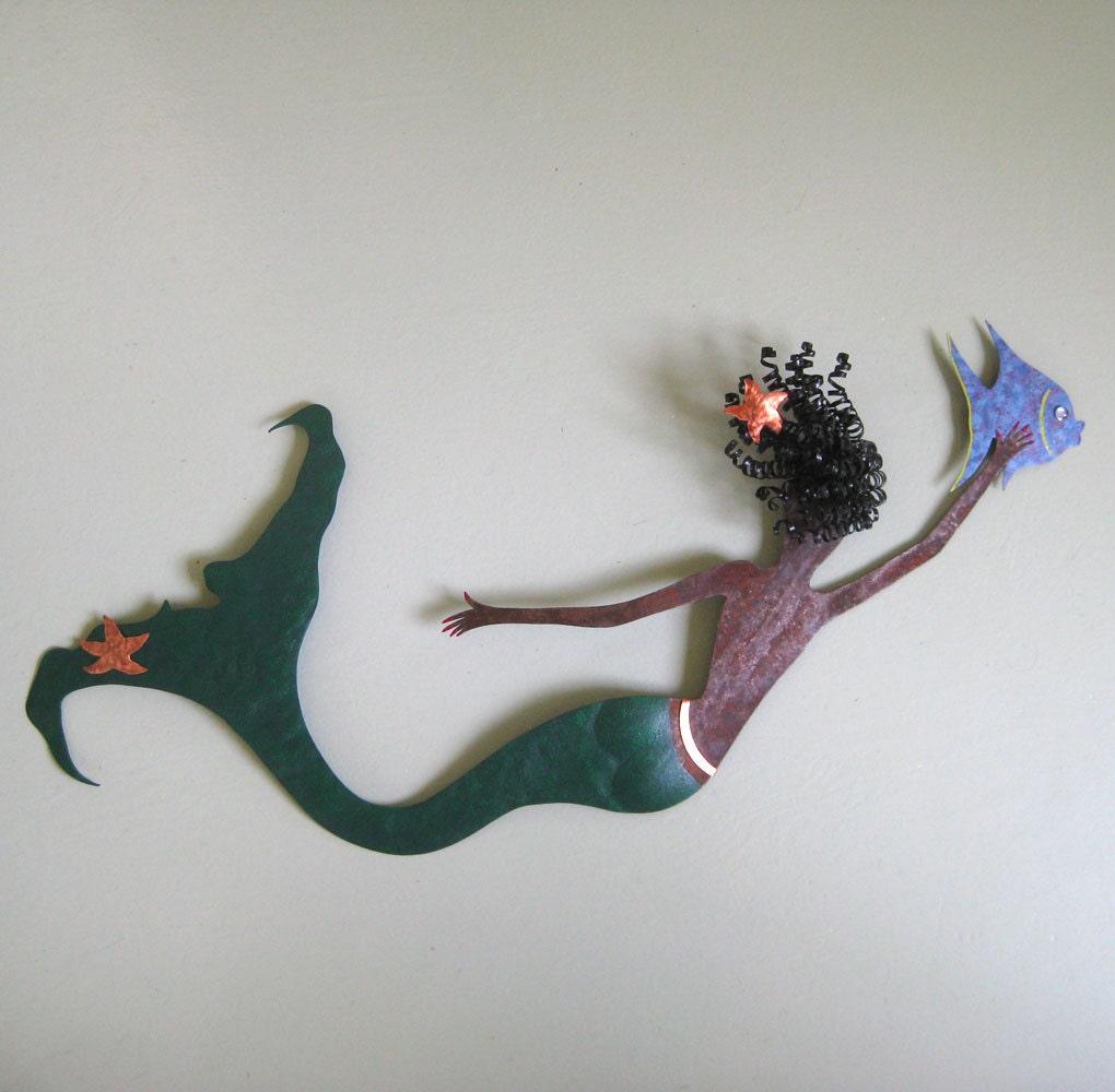 Mermaid Wall Art Sculpture Ocean Decor By Frivoloustendencies