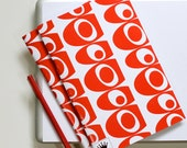 6 x 9 Paper Filled Journals, Two, Mid Century Blobs, Red