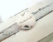 A La Carte . Hand Stamped Sterling Silver Medium Disc . Brag About It