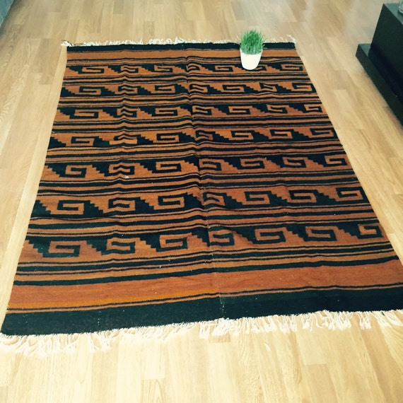Art Kilim Wool Rug: Vintage Wall Hanging SOUTHWESTERN Wool Kilim Rug Native