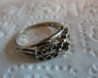 Beautiful vintage  14K white gold ring setting  by Terry and Amanda designs.