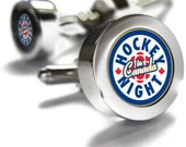 Hockey Night in Canada Cuff links - Canadian gifts, sports gifts, hockey gift, Don Cherry
