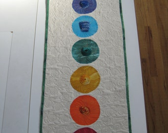 Reiki Quilt with Gemstones * Meditation Quilt * Chakra Quilt