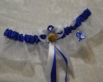 Handmade wedding garter keepsake DUKE UNIVERSITY wedding garter