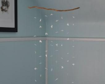 Mobile White Driftwood Custom Decorative Felt Origami