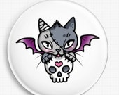 Needle Minder - Vamp Kitty By Miss Cherry Martini Cross Stitch Keeper - Fridge Magnet
