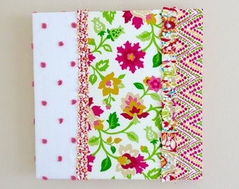 Wall Hanging with Colorful Pink Green Yellow and White Pattern - IKEA Hack Decor