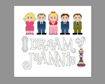 I Dream Of Jeannie Pixel People Cross Stitch Pattern PDF PATTERN Only