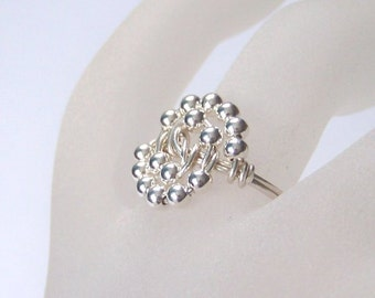 Sterling Silver Ring - Celestial - Wire Wrapped Ring - Sterling Silver Wrapped Ring - All Sizes Available