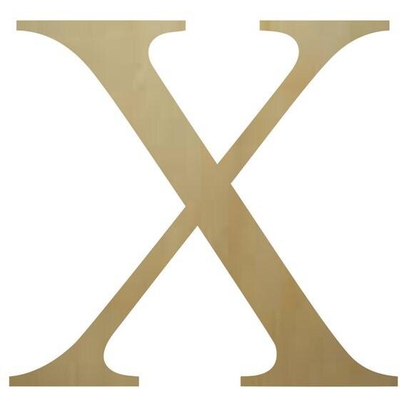 Wooden greek letter chi paintable for Greek wooden block letters