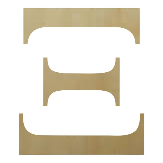 Wooden greek letter xi paintable for Buy wooden greek letters