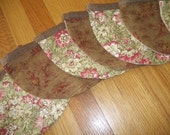 Shabby Chic Banner Garland Pennant Party Decor Scalloped Banner