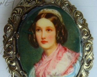Antique Edwardian Victorian Western Germany Stunning Portrait Brooch