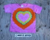 Pinkie Pie Pony Heart Tie Dye T-Shirt (Gildan Youth Size XS) (One of a Kind)
