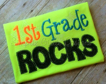Preschool, kindergarten, 1st, 2nd, 3rd, 4th grade rocks shirt. Any grade. Other colors and sizes available.
