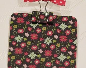 Post It Note Holder- Clipboard- Mini Flower