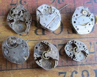 Steampunk watch parts - Vintage Antique Watch movements Steampunk - Scrapbooking g27