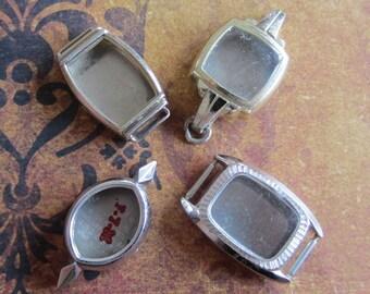 Vintage  Watch parts - watch Cases -  Steampunk - Scrapbooking  n27