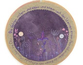 """Hand Embroidery Hoop Wall Art  """"The violets giggle and cuddle..."""""""