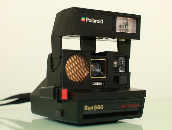 polaroid sun 660 autofocus instant film camera great by freshpie. Black Bedroom Furniture Sets. Home Design Ideas