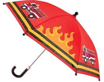 Personalized Stephen Joseph Firetruck Umbrella