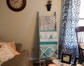 Shabby Quilt Ladder - home decor - quilt storage - distressed