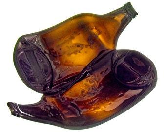 Conjoined 40's beer bottle bowl