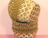 Gold Sheen Assorted Cupcake Liners   (36)