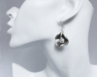 Pearl jewelry black earrings, earrings with black pearl, pearl jewelry, black pearls earrings, jewelry set.