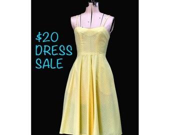 SALE! Vintage 70 Sunniest Sunny Halter Dress