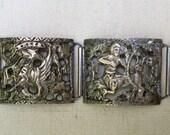 A Silver Panel Bracelet Depicting Mythological Creatures
