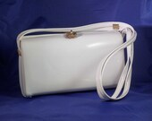 vintage white patent leather purse
