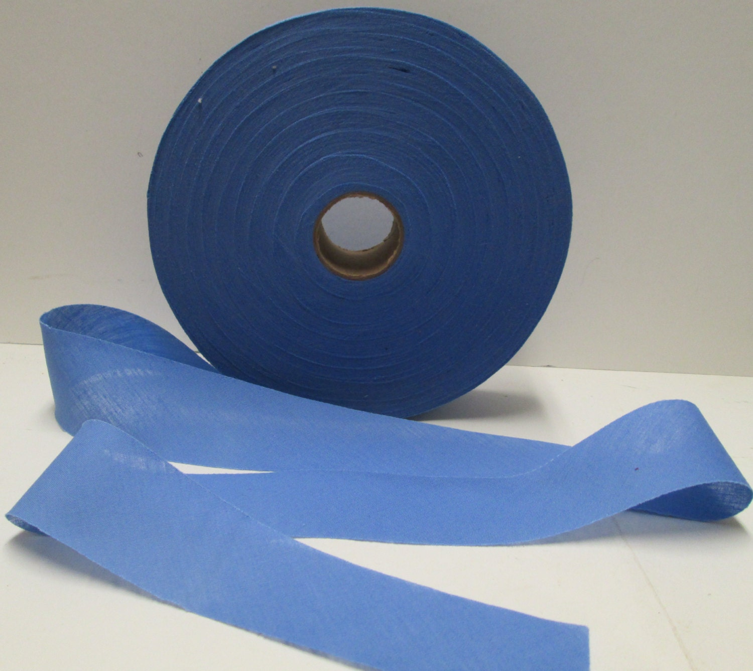 Bias Tape Roll 125 Yd Blue Sewing Trim 1.2 Cotton Quilt