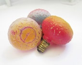 Trio Of Vintage Party Light Bulbs 1920's Whimsical Fun Mixed Media Assemblage Components Photo Props