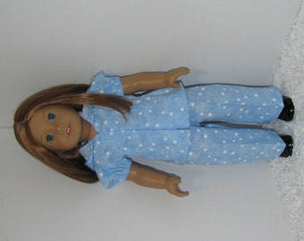 Blue Hooded Blouse and Pants, Fits 18 Inch American Girl Dolls