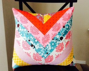 Chevron Quilted Pillow Cover -- It's A Hoot