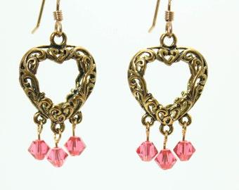 Filigree Heart Earrings