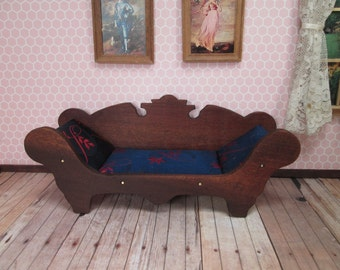 "Vintage Miniature Dollhouse Parlor Settee for 1"" Dollhouse"